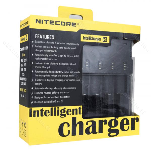 Accessoires - Chargeur et usb - CHARGEUR NITECORE I4 - smoke clean à Etampes 91150 en Essonne 91, France