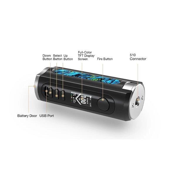 Mods Box electronique - lost vape - Box Grus 100W Résine Edition black/marine - Smoke clean à Etampes 91150 en Essonne 91 France