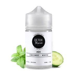 E-liquide - Concombre Menthe 50ml - Detox Mania - Smoke clean à Etampes 91150 en Essonne 91 France