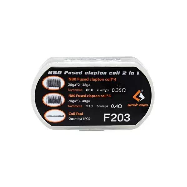 Resistances / Coils - N80 Fused Clapton Coil 2 in 1 – Geekvape - smoke clean à Etampes 91150 en Essonne 91, France